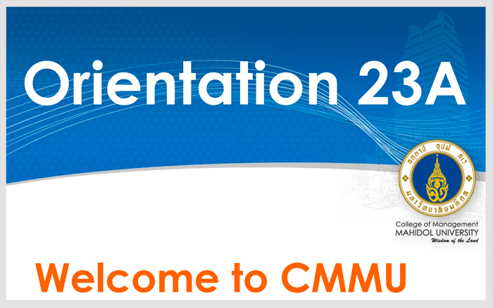 CMMU Orientation for 23A
